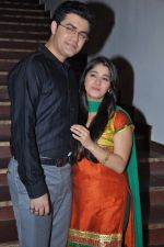 Nishad Vaidya, Chandni Bhagwanani on the sets of Amita Ka Amit in Mumbai on 6th July 2013 (76).JPG