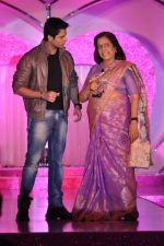 Karan Godwani, Usha Nadkarni at Colors launch  Pammi Pyarelal show in BKC, Mumbai on 11th July 2013 (57).JPG