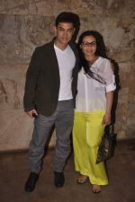 Aamir Khan, Rani Mukherjee at  Aamir Khan_s screening of Ship of Theseus followed by katrina_s birthday celebrations on 16th July 2013 (134).JPG