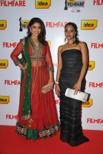 Richa Gangopadhyay & Sonia on the Red Carpet of _60the Idea Filmfare Awards 2012(South).jpg