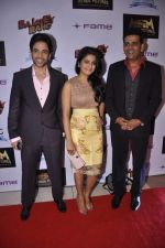 Tusshar Kapoor, Vishakha Singh, Ravi Kissen at Bajatey raho premiere in Mumbai on 25th July 2013 (191).JPG