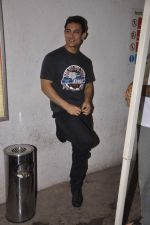 Aamir Khan snapped while dubbing for his film in Reliance Mediaworks on 28th July 2013 (19).JPG
