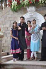 Shahrukh Khan, Gauri Khan, Aryan Khan, Suhana Khan at Shahrukh Khan_s Eid Party on 9th Aug 2013 (223).JPG