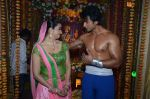 Divyanka Tripathi, Nishant Malkani at Big Magic Janmasthami episode shoot in Mumbai on 17th Aug 2013 (2).JPG
