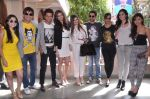 Riteish, Vivek, Aftab, Sonalee Kulkarni, _Maryam Zakaria, _Bruna Abdullah, _Karishma Tanna, Kainaat, Manjari at Grand Masti promotions in Malhar, Mumbai on 17th Aug 2013 (18).JPG
