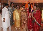 Govind Bansal, Bappa Lahiri, Bappi Lahiri, Chitrani Lahiri, Tanisha Verma Lahiri, Rema Bansal at Bappi Lahiri_s Ganpati celebrations in Mumbai on 9th Sept 2013.jpg