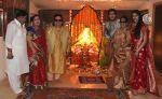 Govind Bansal, Rema Bansal, Bappi Lahiri, Bappa Lahiri, Chitrani Lahiri, Tanisha Verma Lahiri at Bappi Lahiri_s Ganpati celebrations in Mumbai on 9th Sept 2013.jpg
