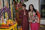 Yash Tonk, Gauri Tonk celebrate Ganesh Chaturthi in Mumbai on 9th Sept 2013 (112).JPG