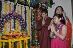Yash Tonk, Gauri Tonk celebrate Ganesh Chaturthi in Mumbai on 9th Sept 2013 (114).JPG