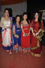 Misti Mukherjee,Sonu Kakar,Neha Kakkar,Tanisha Singh at Musical audio release of film My friend Husain at Andheri cha Raja in Mumbai on 20th Sept 2013(19).JPG