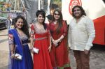 Misti Mukherjee,Sonu Kakkar,Neha Kakkar at Musical audio release of film My friend Husain at Andheri cha Raja in Mumbai on 20th Sept 2013 (13).JPG