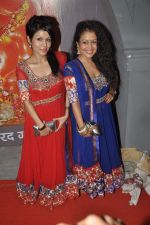 Sonu Kakkar,Neha Kakkar at Musical audio release of film My friend Husain at Andheri cha Raja in Mumbai on 20th Sept 2013 (34).JPG