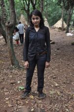 Janvi Chheda at CID on location as they celeberate 1000 episode in Filmcity, Mumbai on 26th Sept 2013 (18).JPG