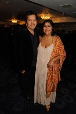 Gurinder Chadha with husband Paul Mayeda Berges for 100 years of Indian cinema at an Annual Gala- 28th September 2013.JPG