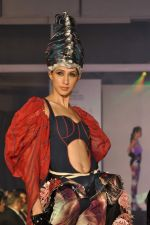 Model on the ramp for Chimera fashion show for students in Mumbai on 30th Sept 2013 (49).JPG