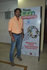 Shreyas Talpade at Times Green Ganesha event in YB, Mumbai on 8th Oct 2013 (11).JPG