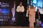 Zayed Khan, Sanjay Khan, Zarine Khan at Dr Batra_s Positive awards in NCPA, Mumbai on 8th Oct 2013 (93).JPG