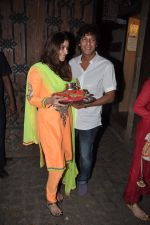 Bhavna Pandey, Chunky Pandey at Karva Chauth celebration at Anil Kapoor_s residence in Mumbai on 22nd Oct 2013 (70)_5268c9ee8967a.JPG