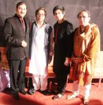 Sudesh Bhosle, Hridaynath Mangeshkar, Suddhant Bhosle and Harish Bhimani at Hridayotsav 71 in Mumbai on 26th Oct 2013_526ce9648b251.jpg