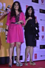 Vidya Balan, Ekta Kapoor at Trailer launch of Shaadi Ke Side Effects in Mumbai on 28th Oct 2013 (38)_526f8fb0374bd.JPG