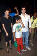 Malaika Arora Khan, Arbaaz Khan at the midnight mass in Mumbai on 24th Dec 2013