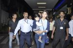 Shilpa Shetty with her Son snapped at the airport in Mumbai on 5th Jan 2014 (6)_52cabae13a8fd.JPG