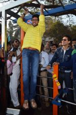 Aditya Thackeray at the launch of DM fitness in Worli, Mumbai on 11th Jan 2014