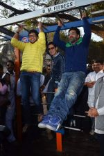 Akshay Kumar, Aditya Thackeray, Dino Morea at the launch of DM fitness in Worli, Mumbai on 11th Jan 2014