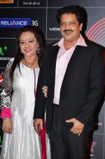 Udit Narayan at 4th Gionne Star Global Indian Music Academy Awards in NSCI, Mumbai on 20th Jan 2014 (400)_52de35bd25bf4.JPG