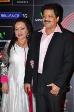 Udit Narayan at 4th Gionne Star Global Indian Music Academy Awards in NSCI, Mumbai on 20th Jan 2014 (403)_52de35be7ddb6.JPG