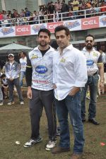 Salman Khan at CCL match in D Y Patil, Mumbai on 25th Jan 2014 (21)_52e4e4454b970.JPG