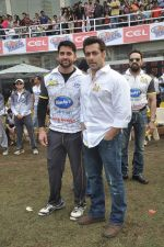 Salman Khan at CCL match in D Y Patil, Mumbai on 25th Jan 2014 (22)_52e4e4467340b.JPG