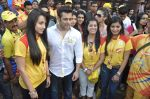 Salman Khan at CCL match in D Y Patil, Mumbai on 25th Jan 2014 (65)_52e4e45a8ba0a.JPG