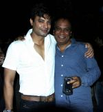 rahul bhat & vipin sharma at a surprise birthday party for Sudhir Mishra by Rahul Bhat in Mumbai on 22nd Jan 2014_52e8910bd3786.jpg