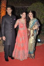 Vaibhav Arora, Ahana Deol, Rekha at Ahana Deol_s Wedding Reception in Mumbai on 2nd Feb 2014 (57)_52efa3ed33ccd.JPG