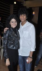 Brother Palash Muchhal wishing Palak Muchhal for winning the Zee Cine Awards after the song recording for Shilpa Shetty_s productions film _Dishkiyaaoon__52f870cbca069.JPG