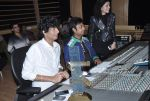 Palak & Palash Muchhal at the recording of song with singer Arijit Singh for Shilpa Shetty_s productions film _Dishkiyaaoon_ (1)_52f870c0d3cfa.JPG