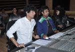Palak & Palash Muchhal at the recording of song with singer Arijit Singh for Shilpa Shetty_s productions film _Dishkiyaaoon_ (2)_52f8708e1d211.JPG