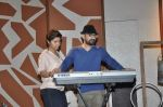 Sunidhi Chauhan with her husband Hitesh Sonik  at the recording of Amol Gupte_s music video in Mumbai on 16th feb 2014 (65)_5301a661e2d80.JPG