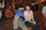 Sunidhi Chauhan with her husband Hitesh Sonik  at the recording of Amol Gupte_s music video in Mumbai on 16th feb 2014 (96)_5301a66b85293.JPG