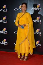 Aruna Irani at Colors red carpet in Grand Hyatt, Mumbai on 1st March 2014 (402)_5312fddca2e07.JPG