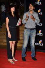 Hiten Tejwani, Gauri Tejwani at Colors red carpet in Grand Hyatt, Mumbai on 1st March 2014 (402)_5312ff79e705b.JPG