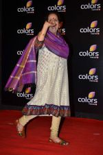 Usha Nadkarni at Colors red carpet in Grand Hyatt, Mumbai on 1st March 2014 (155)_531305f45021b.JPG