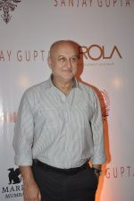 Anupam Kher at the Viewing of In an Artists Mind - IV presented by Reshma Jani and Shwetambari Soni of Gallerie Angel Art along with Sanjay Gupta on 6th March 2014 (98)_5319aa8cb19d0.JPG