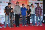 Amitabh Bachchan, Parth Bhalerao, Bhushan Kumar at Bhootnath Returns promotions in Prabhadevi, Mumbai on 22nd March 2014 (45)_532ebc59e15a0.JPG