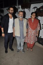 Shahid Kapoor, Pankaj Kapoor, Supriya Pathak at the screening of the film Inam in Mumbai on 26th March 2014 (79)_53355c244e7c0.JPG