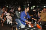 Varun Dhawan takes Ekta Kapoor for a bike ride to promote Main Tera Hero in Goregaon, Mumbai on 31st March 2014 (30)_533aa55cbe225.JPG