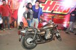 Varun Dhawan takes Ekta Kapoor for a bike ride to promote Main Tera Hero in Goregaon, Mumbai on 31st March 2014 (40)_533aa55e264bb.JPG