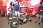 Varun Dhawan takes Ekta Kapoor for a bike ride to promote Main Tera Hero in Goregaon, Mumbai on 31st March 2014 (46)_533aa55f2eb73.JPG