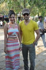 Rajeev Khandelwal and Madalasa Sharma at Waterkingdom to celebrate its 16th Anniversary and promote Samrat & Co. in Mumbai on 27th April 2014 (58)_535e014ddf8c2.JPG